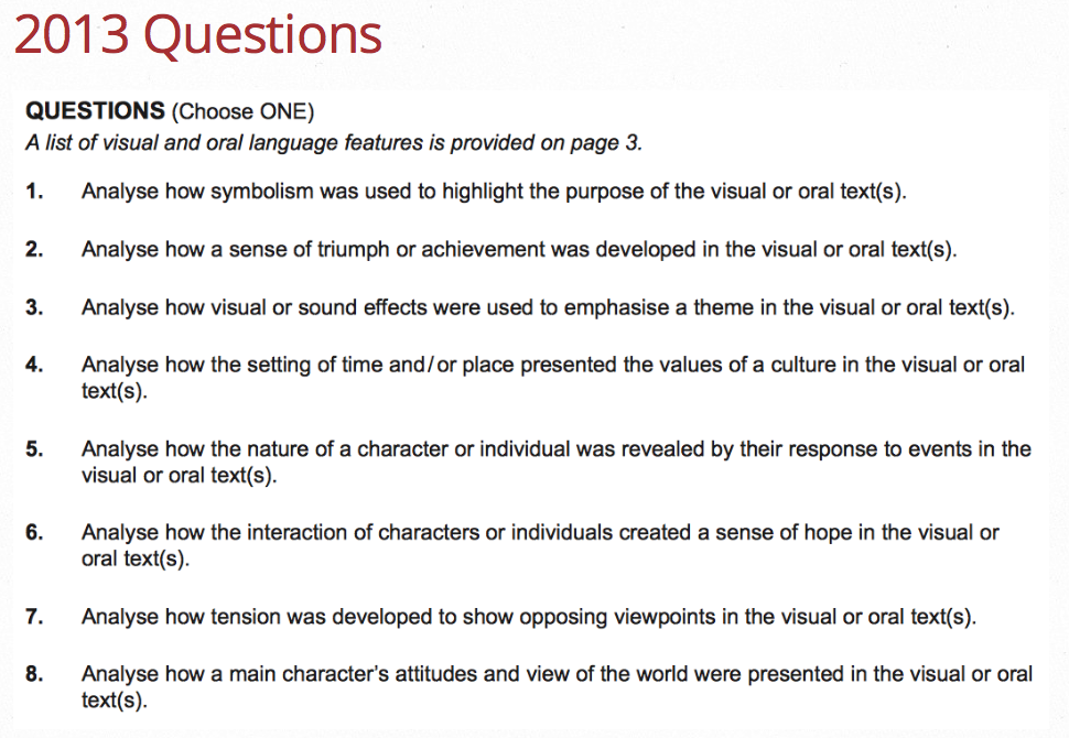 film essay questions lawleryr weebly com 2013 choice of essay questions